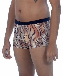 Mens Tiger Print Swimming Trunks
